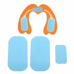 Semme Hip Trainer Massager Fesses Télécommande sans Fil Lifter avec 6 Pcs de Coussin de siège en Gel, Vitesse 6 Modes USB Rechargeable Booster de Muscle Rechargeable Fitness(Schwarz + Orange)