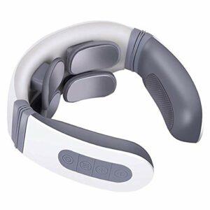 SMSOM Masseur au Cou, Masseur à col pouls électrique, Massage au Cou Portable sans Fil pour la Douleur au Cou (Color : White)
