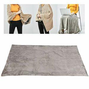 Tenpac Couverture chauffante électrique, couvertures Portables à Chauffage Rapide lavables en Machine 4W pour Utilisation au Bureau pour Le réchauffement du Corps Entier pour la Maison