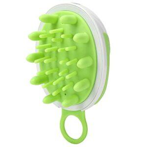 Tenpac Masseur de Cuir chevelu Manuel, Brosse à shampoing en Plastique + poignée Ergonomique en Silicone pour Soins du Cuir chevelu pour Animaux de Compagnie pour Cheveux pour Femmes pour Enfants