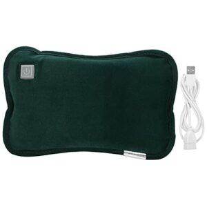 Thérapie de chaleur de chauffe-mains portatif réutilisable de coussin de main chauffant électrique pour l'homme et la femme(Dark green)