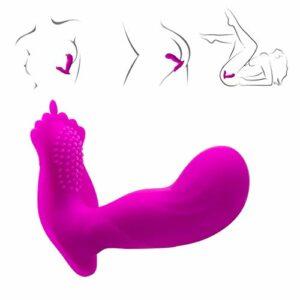 Vibr-omasseur de Cou-ple Vibration Wearable Jouets Télécommande sans fil for les femmes avec électrique puissante fonction de stimulation de massage du cou, musculaires Waterproof