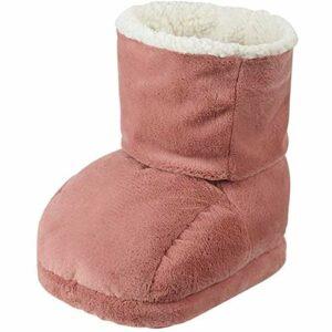 ZHANGXJ Portable Chauffe Pieds Electrique Chancelière Douce Lavable Température Réglable Hiver Chaud Peluche Chaussures pour Le l'hiver (Color : Pink2)