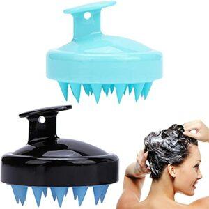 ZWWZ Lot de 2 brosses à shampooing pour Masseur de Cuir chevelu pour Cheveux améliorés pour Cheveux humides et secs Brosse pour Cuir chevelu pour Hommes et Femmes Masseur de tête