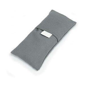 1pc yoga oeil visage-couvert yoga oreiller oeil oreiller lavande oreiller oeil aromathérapie oreiller oeil couvre-oreiller pour yoga apaisant fatigue, gris