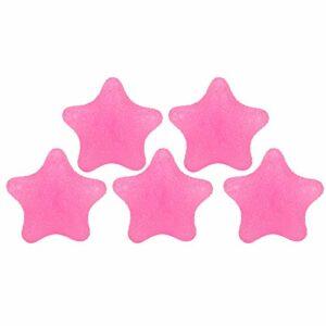 5 Pièces en Forme D'étoile Boules de Poignée de Main Thérapie Gel D'exercice Boules de Compression Gel de Soulagement du Stress Boules de Main pour les Muscles du Poignet de la Main(rose)