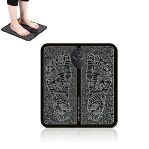 Appareil de massage des pieds EMS Appareil de massage électrique intelligent pour la relaxation, 6 modes de massage des pieds électrique portable pour la circulation sanguine, les douleurs musculaires