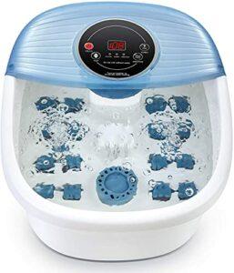 Bain de Pieds Massager avec Contrôle de la Température Pédicure Heat Bubbles Vibration Fonction 3 en 1, 16 Rouleaux de Massage Soaker Baignoire Numérique pour le Confort des Pieds à la Maison