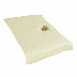 Baoblaze Couverture Sectionnelle de Drap de Lit de Massage de Bande de Satin pour Le Trou de Souffle de Visage 50x80cm – Beige 50x80cm