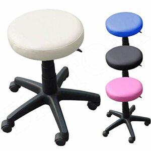 Beltom Tabouret A roulettes RÉGLABLE PIVOTABLE Chaise Atelier Massage MANUCURE Maison – Crème