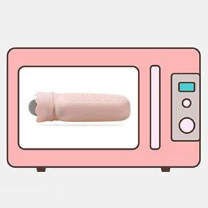 Bouillotte en Silicone, Couverture tricotée Sac d'eau Chaude pour la Maison pour Les Enfants pour Les Dames pour Les Filles pour la Chambre pour Les Femmes menstruées(Pink)