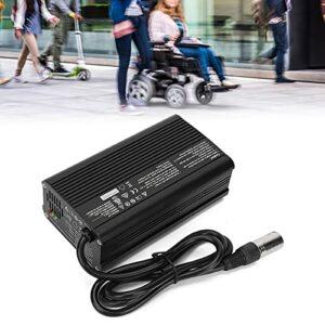 Brrnoo Chargeur de Batterie de Fauteuil Roulant, Accessoire de Remplacement de Chargeur de Batterie 24V 8A pour Fauteuils Roulants de Scooters électriques(EU)