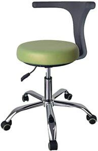 Chaise de dentiste médical, chaise de dentiste de tabouret dentaire médical avec accoudoir de rotation à 360 degrés en cuir PU, chaise de barbier de salon de tabouret de beauté réglable pour magasin