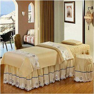 Chilechuan SPA Traitement Beauty Salon de massage Table de massage jupe de lit, Table de massage Couverture de la table de massage de couleur Solide Couverture de la table Salon Beauty Literie Linge d