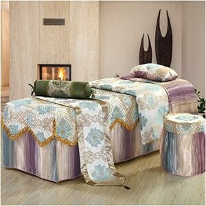 Chilechuan Spa Traitement de beauté Salon de massage Table de massage Jupe de lit, Quilting Beauty Bed Cover Couverture Simple Salon Soft Massage Body Jupe Jupe Lits Couvre-lit 190x70cm (75x28in)