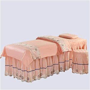 Chilechuan SPA Traitement de beauté Salon de massage Table de massage Jupe de lit, Table de massage Table de massage Ensembles de la table de massage dans la broderie, Table de massage de couleur mass