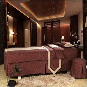 Chilechuan Spa Traitement Salon de beauté Salon de massage Jupe de lit, Table de massage Couvercle de coton Couverture de coton Couverture de beauté Soft Simple Sac Sac Sacreads 190x80cm (75x31in)