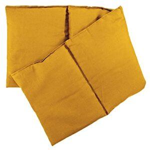 Coussin 4 compartiments en graines de lin 20 x 60 cm – Coussin chauffant & coussin froid – 60 x 20 cm – graines de lin, mangue