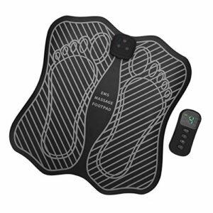 Coussin de massage des pieds, coussin de massage électrique pour masseur de pieds EMS stimulateur musculaire coussin de jambe de mise en forme rechargeable