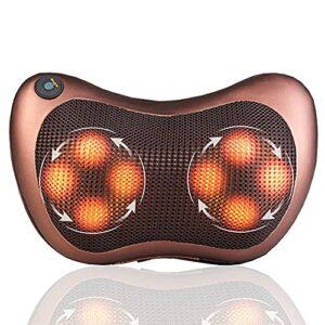 Coussin de massage électrique avec fonction chauffante et têtes de massage rotatives 3D
