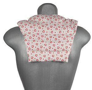Coussin de nuque avec dossier – Amour maison de campagne – Coussin de colza – Coussin chauffant pour le dos