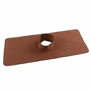 Drap de table de massage Coussin de massage Housse de tête de massage Spa pour utilisation en SPA pour utilisation en salon pour salon de coiffure pour nettoyage du corps humain(Deep coffee)
