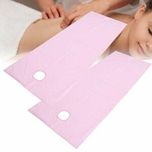 Draps de Lit, 2pcs Drap de Massage Draps de Lit de Massage Beauté Draps Lit Salon Beauté pour Spa Tatouage Table Massage Hôtels Respirant Résistant à L'huile Spa Couverture Table(rose)