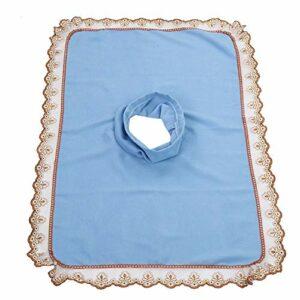 Draps de massage Salon Massage SPA Canapé Coussin de lit souple avec trou de respiration du visage(BLEU)