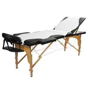 Ejoyous Lit de Spa, lit de Massage Solide et Ferme, Facile à Transporter, conceptions de poignées Douces et faciles à Nettoyer avec 2 Mains courantes pour Le Salon à la Maison