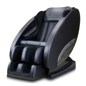 Fauteuil de massage électrique pour tout le corps Smart + zéro de gravité à la maison Télécommande de massage 140 cm SL + Bluetooth 3D (Noir)
