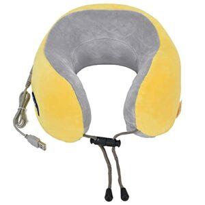 Fdit Oreiller de Massage du Cou, Charge USB pour Masseur de Cou électrique pour bibliothèque pour Bureau(Yellow, Pisa Leaning Tower Type)