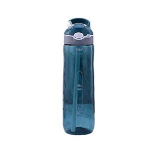FPEH Coupe d'eau de Sport avec des pailles, des étudiants et des Adultes à l'extérieur de la gobelet en Plastique de Grande capacité de Grande capacité à résister aux fui Dark Blue