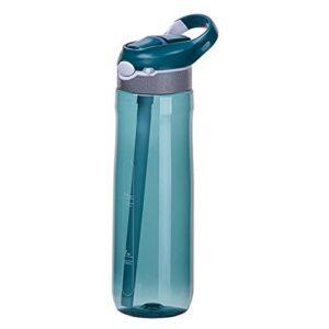 FPEH Étudiant en Plastique Portable de la Bouteille d'eau de Sport d'eau Portable de la Bouteille d'eau de Duckbill Fuite de Paille Anti-bPA réutilisable Green