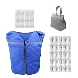 Gilet De Refroidissement D'été avec 25 Packs De Glace Refroidissement Climatisation Vêtements De Travail Vêtements De Protection Haute Température Sports De Plein Air Cool Ice Shirt