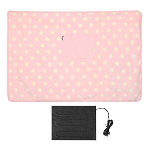 Gmkjh Couverture chauffante, Couverture USB, Couverture chauffante électrique multifonctionnelle USB 5V Couverture de Genou Portable pour Voiture à Domicile(Rose)