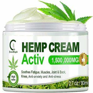 GPGP GreenPeople Crème anti-douleur au chanvre pour soulager le dos, les genoux, les mains, le cou, les douleurs à l'épaule, les douleurs musculaires, l'inflammation des articulations – 80mL
