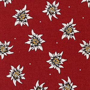 Grand coussin de pépins de raisin 40 x 30 cm – 3 chambres – Motif fleurs edelweiss – Coussin chauffant – Coussin à grains