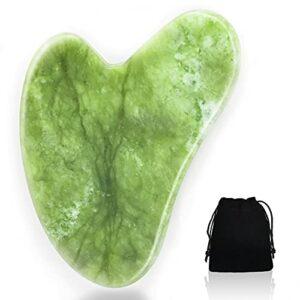 Gua Sha Pierre de jade Outil de massage naturel pour le visage Outil de massage guasha Board Scraping Massage Beauté Outil de soin de la peau spa pour amincir et raffermir la peau