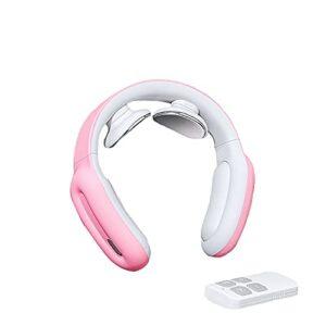 GXNINEF Masseur De Cou Masseur De Cou à Impulsion électromagnétique pour Soulager Les Douleurs Au Cou Et Aux épaules Masseur sans Fil pour Les Tissus Profonds,Pink