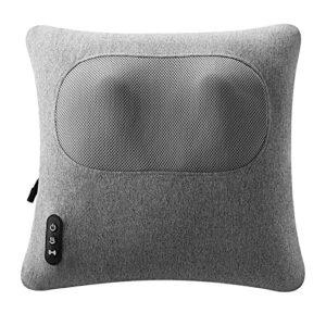 GXNINEF Masseur De Cou Masseur De Dos pour Soulager La Douleur Masseur d'oreiller Multifonctionnel Domestique (Gris)