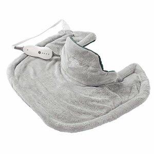 Heating Pads Coussin Chauffant Sunbeam pour Le soulagement de la Douleur du Cou et des épaules   4 réglages de Chaleur avec arrêt Automatique   Gris, 22 Pouces x 19 Pouces