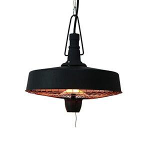 HOLITU Chauffage de terrasse électrique à suspendre au plafond, en aluminium, halogène, interrupteur à tirette