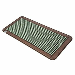 Home Accessories Simple and Stylish Massage Mattress Jade Mattress Tourmaline Vermiculite Heating Stone Far Infrared Magnetic Therapy Stone Pad Used to Relieve Body Neck Back Pressure A-M Natural V