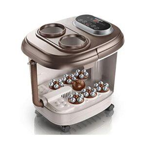 HPRM Masseur de Bain Spa à Pied électrique, 2 sur 1 Pied et Mollet Mollet Baignoire de Pieds, Masseur de Pied de télécommande chauffée, Système de Chauffage à Circulation