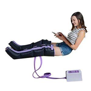 JuZi Store Appareil de Massage par Ondes de Pression pour Mollets Jambes et Pied, Masseur Electrique à Compression d'air, Bottes de Pressothérapie avec 4 Coussins d'air