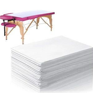 Kamenda Weii Lot de 100 draps de lit jetables imperméables pour le salon, le spa, les massages, les hôtels, les lits, les taches