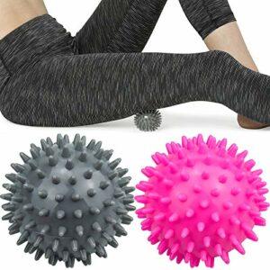 Komoyo 2pcs Balles de Massage Ball, Muscle Relax Boule, Boule Hérisson, Diamètre 7.5 cm, Appareil de Massage thérapeutique pour main, Balle Anti-stress