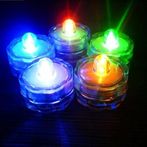 LIOOBO Bougies Chauffe-Plat à Piles à LED pour Bougies Chauffe-Plat à Piles pour Bougies Chauffe-Plat de Mariage sans Flamme