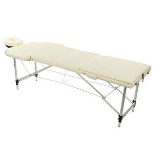 Lit de massage, table de massage pliable à 3 sections, lit de beauté, meubles de spa en cuir PU réglable en hauteur