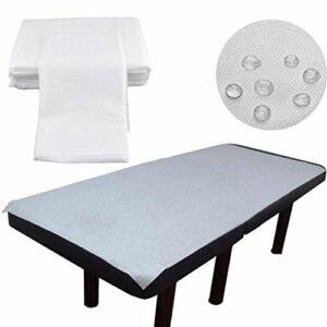 Lot de 100 housses de table de massage jetables – En non-tissé – Imperméables – Résistantes à l'huile – 180 × 80 cm